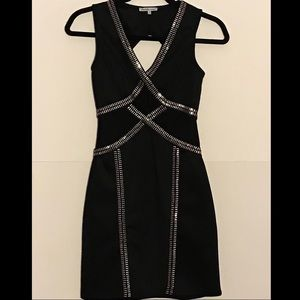 Charlotte Russe Mini Black Dress w/ Gold Hardware